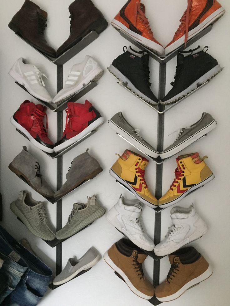 Shoe rack, steel. Homemade