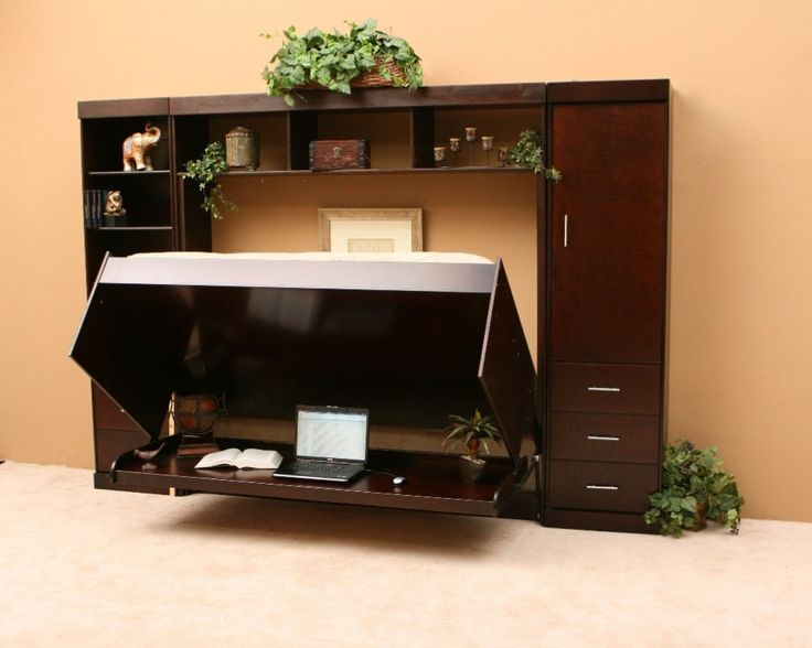 Charming Furniture, Amazing Unique Hidden Bed Design Ideas With Vertical Wall Murphy  Beds Combination With Laptop Desk And Cabinet: Unique Murphy Desk Design  For ...