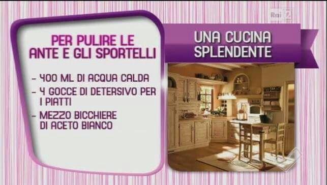 Pulire ante e sportelli in cucina