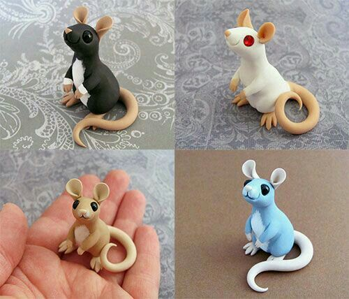 Pin by aida puyol on animals pinterest fimo souris et cosplay - Bebe en pate fimo ...
