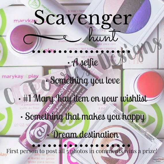Mary Kay Scavenger Hunt Game Digital Download by CTowlesDesigns