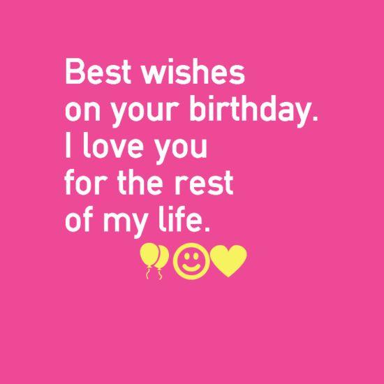 Happy Birthday I Love You Wishes