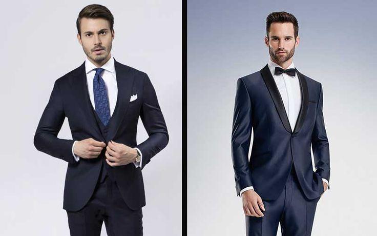Cravatta da abbinare a vestito blu scuro
