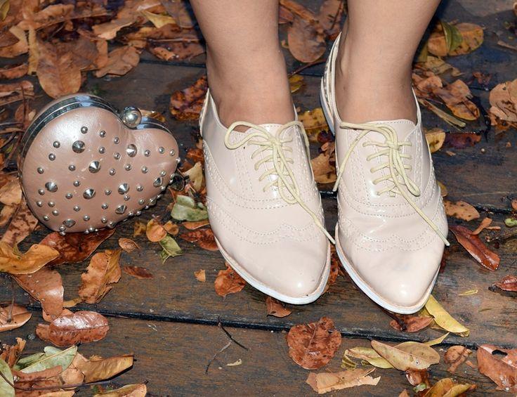 Diário da Moda: Look do dia: Vestido de renda + oxford + sorteio + loja Spotshop