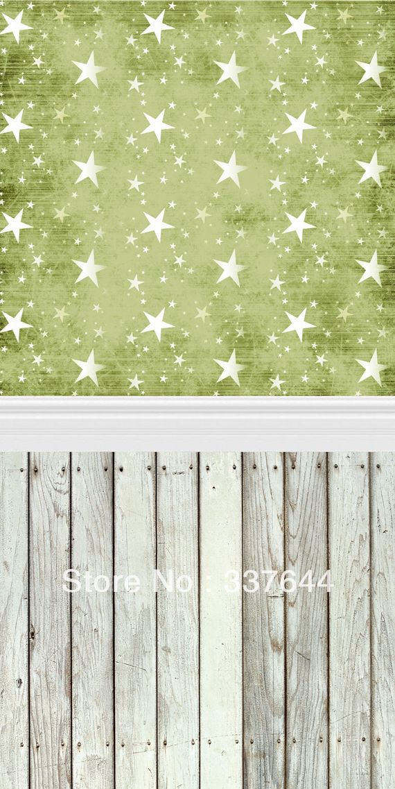 thin vinly Photography Backdrop blue stars Wood Floordrop Custom Photo Prop backdrop backgrounds 5ftX7ft D-042