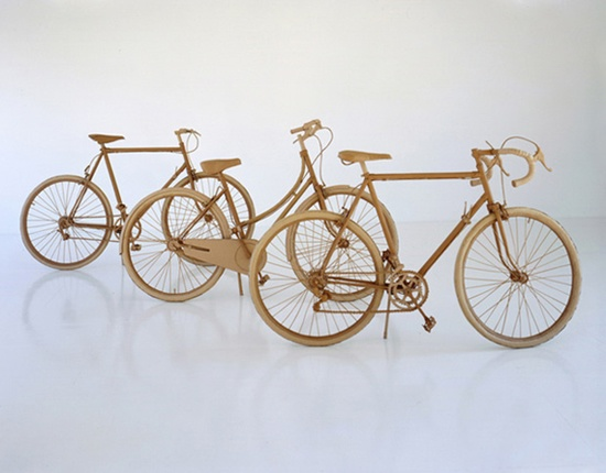 Bicycles made out of cardboard. #3D Chris-Gilmour-cardboard6