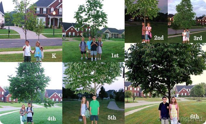 Κολλάζ με φωτογραφίες από τις πρώτες μέρες της κάθε χρονιάς!