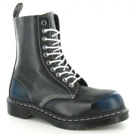 Dr Martens Womens 1919 Steel Toe Fashion Boot - Blue
