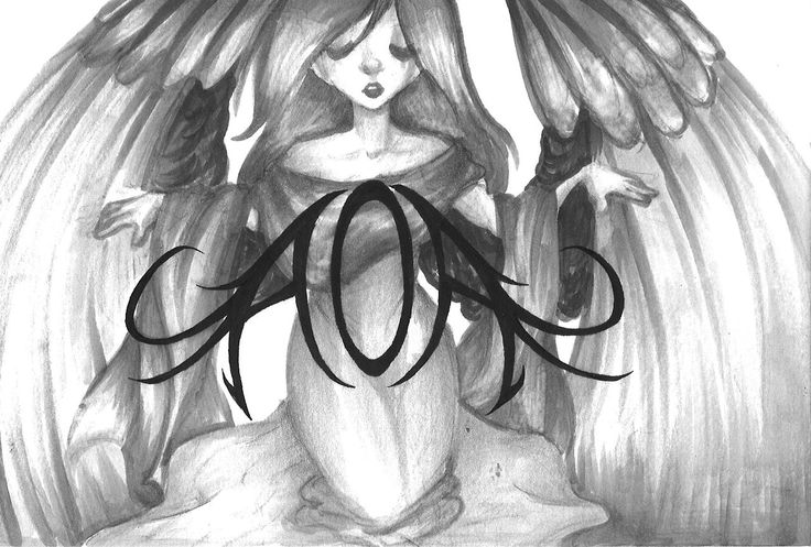 """The """"AOA Angel"""", or as I named her, Aola (hah, that's a bit of a pun folks) I wanted an image to use for my own stuff, and I wanted it to incorporate my logo so, this is my design for all my social media icons and such so far, I hope to incorporate the angel within other pieces I make later, but she is the first."""