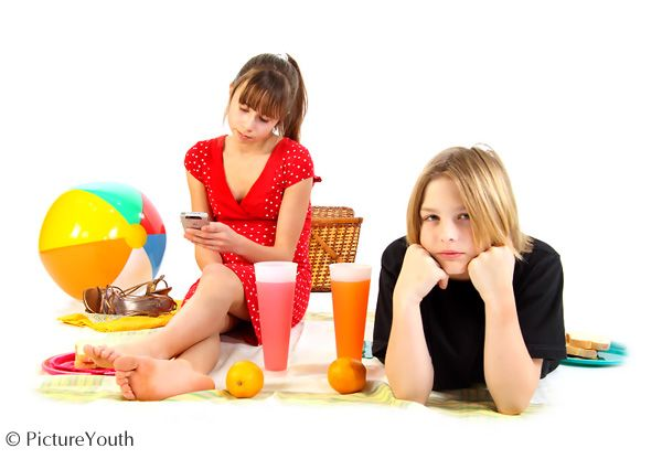 """Childhood relationships are """"No Picnic"""" since cell phones.  #children #romance #funny  PictureYouth.com"""