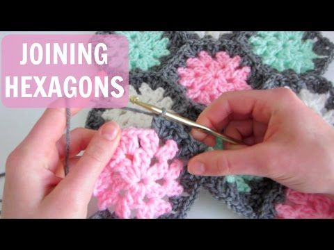 Indie Lovely hexie join as you go crochet pattern and tutorial - YouTube