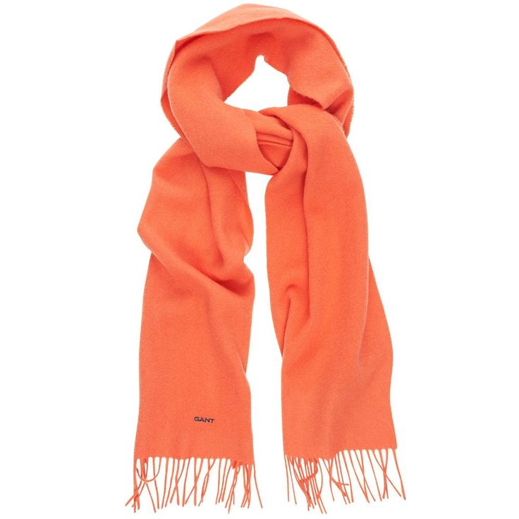 Gant Women s Solid Lambswool Scarf Paprika