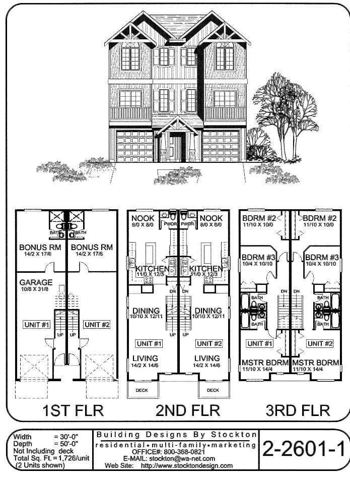 The 25 best narrow house plans ideas on pinterest for Narrow duplex plans