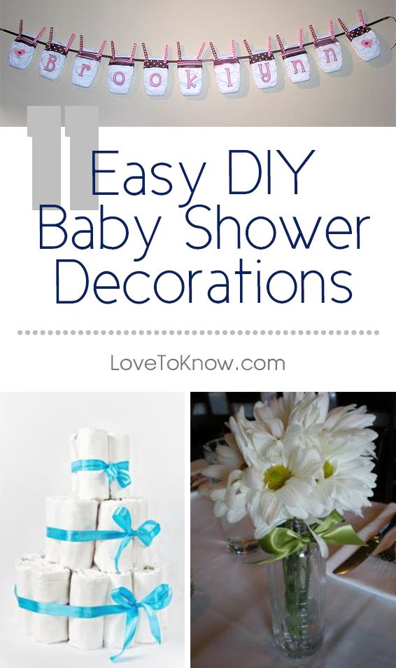 Homemade baby shower decorations can be just as beautiful as store bought items you pay a small fortune for. In fact, homemade decorations typically inspire conversation and admiration. Often, guests are so enamored by the creativity of the decorations, that they borrow the ideas for future showers.