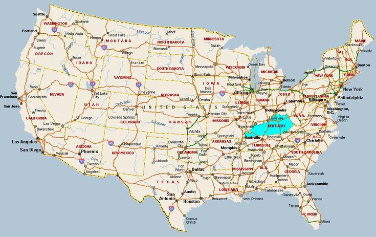 cool Kentucky Map  Tours Maps  Pinterest  Kentucky