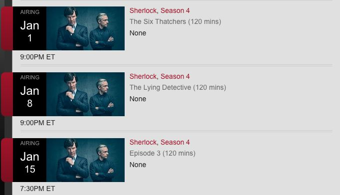 Full schedule of Sherlock series 4 air dates confirmed #Sherlock