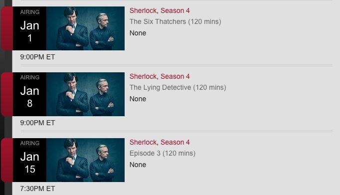 Full schedule of Sherlock series 4 air dates confirmed #Sherlock