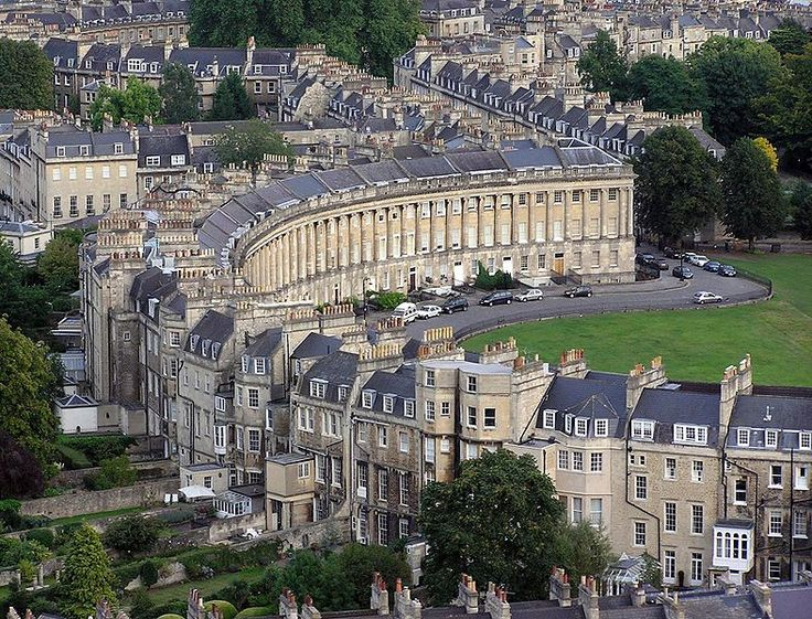 City of Bath-   Bath, Somerset, England    Founded by the Romans as a spa, an important centre of the wool industry in the medieval period, and a spa town in the 18th century, Bath has a varied history. The city is well known for its preserved Roman remains and Palladian architecture.