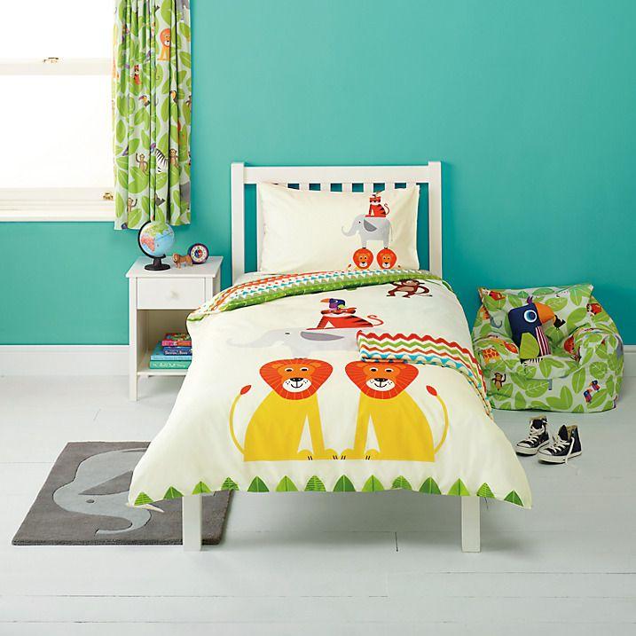 Buy little home at John Lewis Animal Fun Duvet Cover and Pillowcase Set Online at johnlewis.com