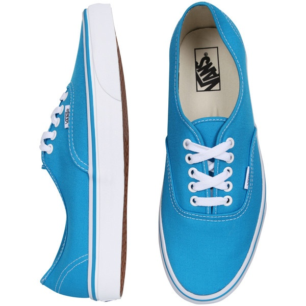 Vans Authentic - Methyl Blue/True White ($61) ❤ liked on Polyvore