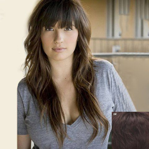 SHARE & Get it FREE | Shaggy Wave Full Bang Charming Long Capless 100…