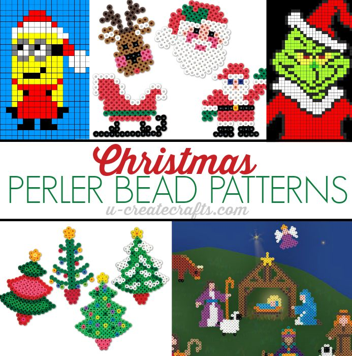 Christmas Perler Bead Patterns at u-createcrafts.com