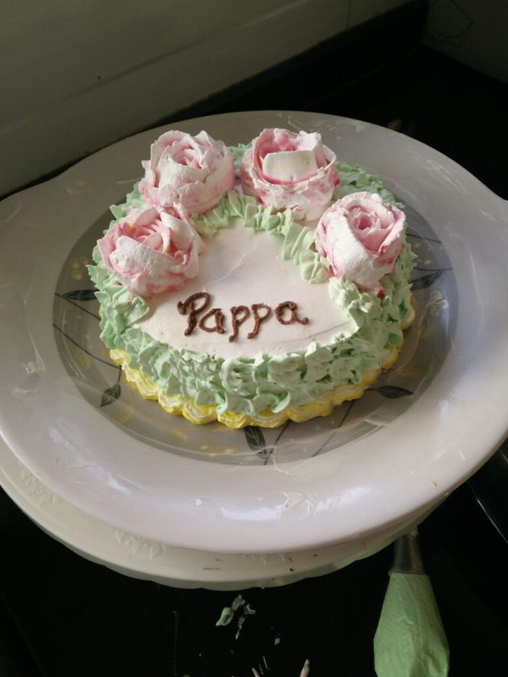 Yummy pineapple cake with all go green decoration