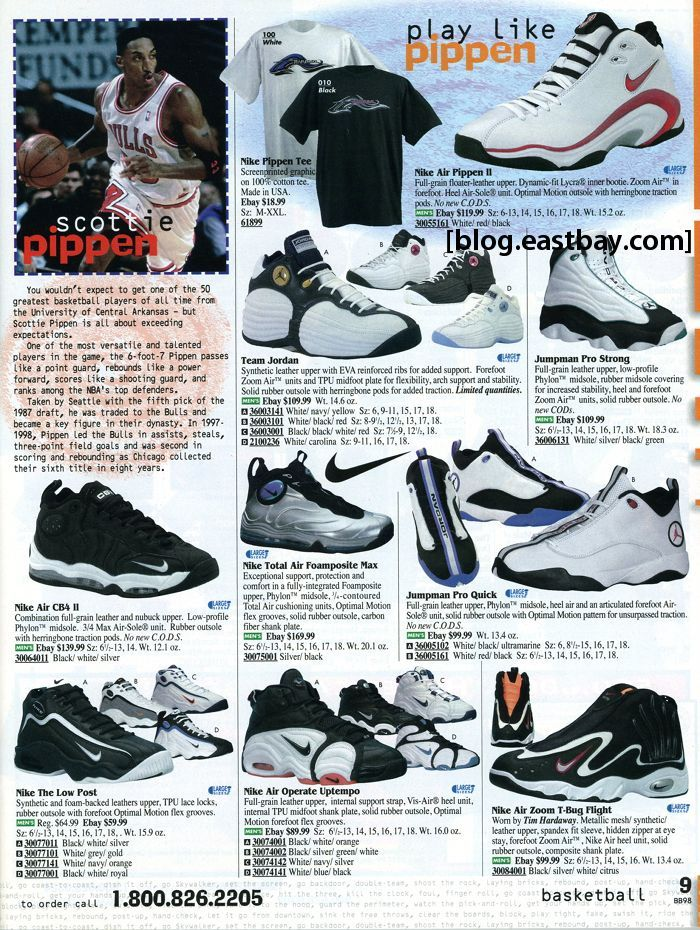 nike shoes 1996 eastbay catalog from 2002 851807