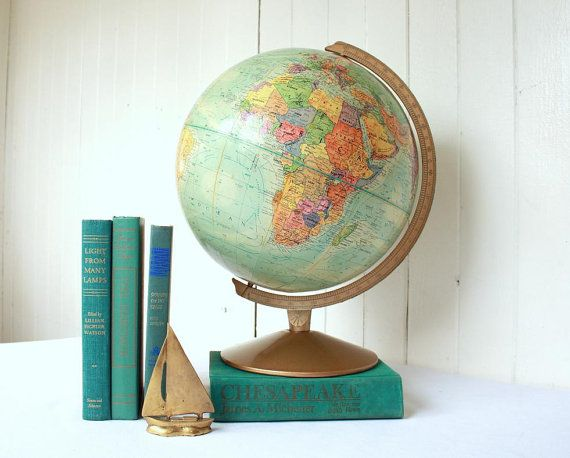 Got my first globe when I was in 4th grade; I have 3 globes now in the house - love old globes!