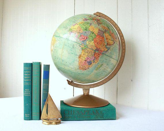 Een oude wereldbol