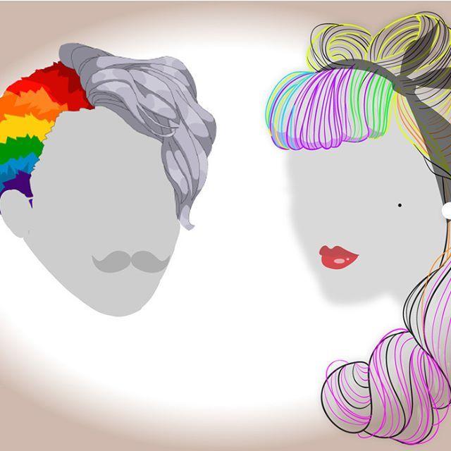 ¿Te animarías a pintarte el cabello de varios colores? ¿sí o no? :O <3  #eltallerdelpelo #rainbowhair #lasmejorespeluqueríasdeBogotá #PeluqueríaModerna #PeluqueríaArtistica #PeluqueríasBogotá
