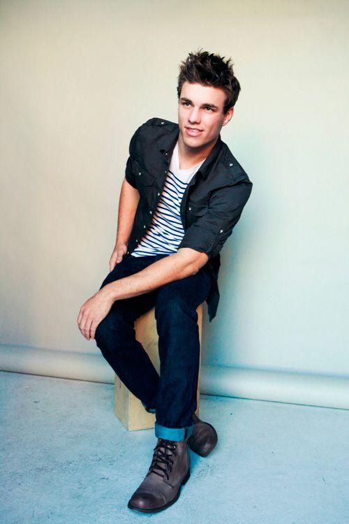 Blue and white stripe teeThis Man, Hot Stuff, Outfit, Stylish Clothing, Jackets, Men Fashion, Stripes, Boots, Style Fashion