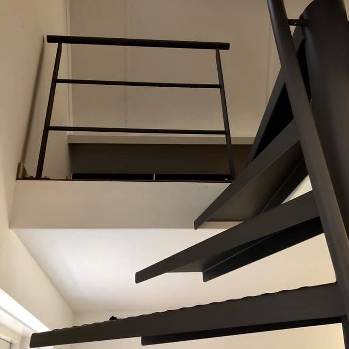 1m2 Stairs By EeStairs I Black Staircase I Saving Space