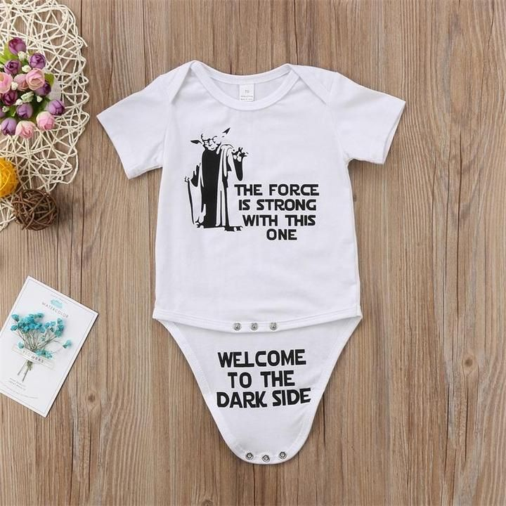 Bodysuit Star Wars 2 pack  Onesie  Funny Star Wars sayings Romper