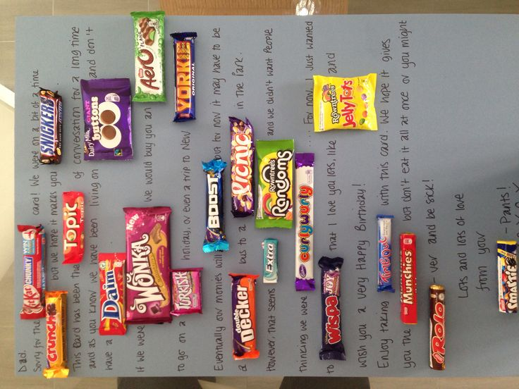 Chocolate bar card