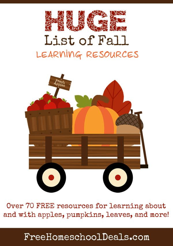 70+ Free Fall Learning Resources + Activities For Kids #homeschool #fall