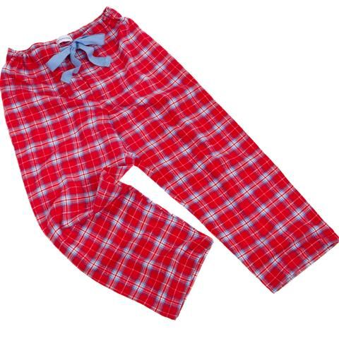 Brushed cotton red check PJ bottoms