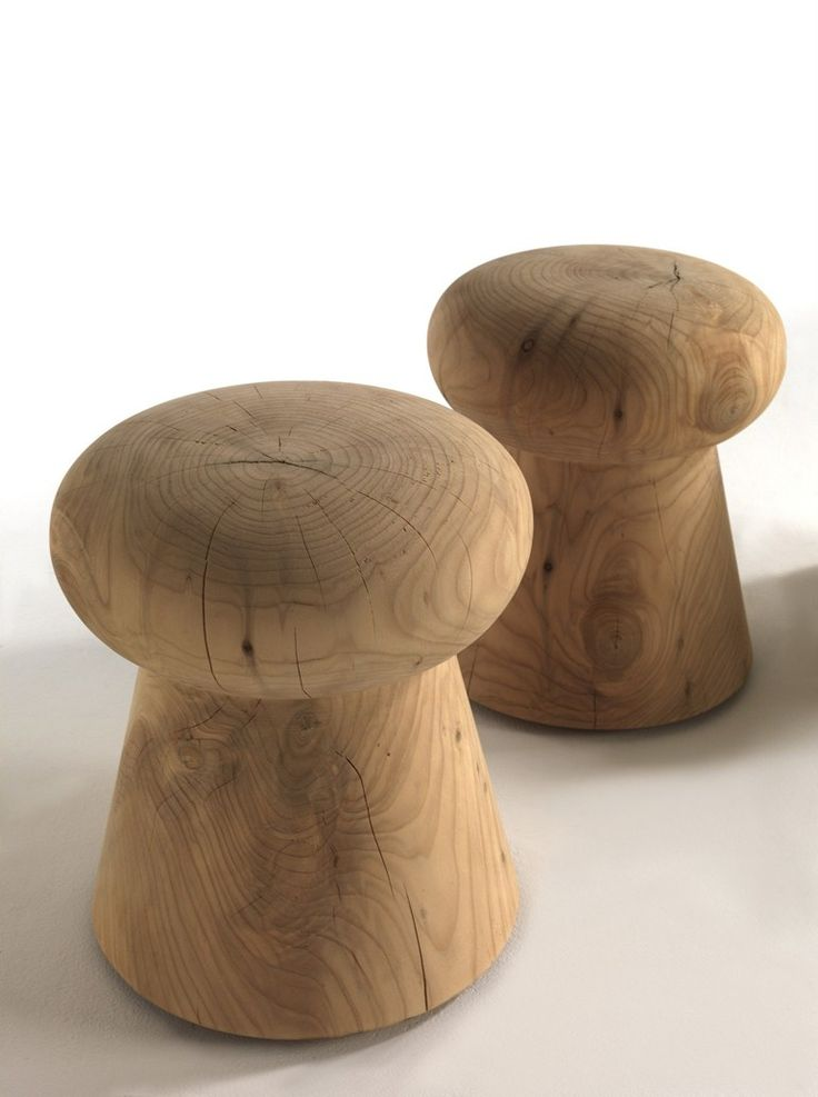 Wooden Stool BRUT By Riva 1920 Design Ruggero Giuliani Good Looking