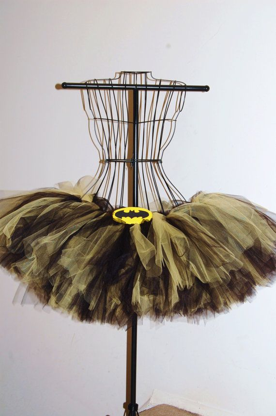 Hey, I found this really awesome Etsy listing at https://www.etsy.com/listing/205728888/adult-batman-like-black-and-yellow-tutu