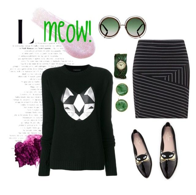 """""""Cat love"""" by onyourback on Polyvore featuring Sigma, Frankie Morello, Kate Spade and Chloé"""