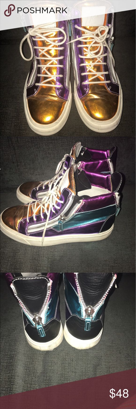 A beautiful pair of AUTHENTIC Giuseppe sneakers Beautiful pair of shoes bought from another posher but a little too big for me Giuseppe Zanotti Shoes Sneakers