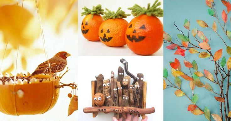 Осенние поделки, игры и идеи для творчества.  Fall activity and crafts for kids.