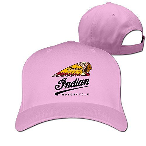 Greenday Indian Motorcycles Logo Sunbonnet Unisex Peaked Cap Baseball Hat Pink