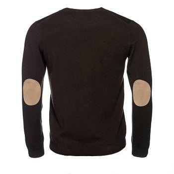 Holen Sie sich die Rundhals Pullover mit Ellbogen-Patches, die aus Baumwolle, Seide und Merino vorgenommen werden. Kontaktiere uns !