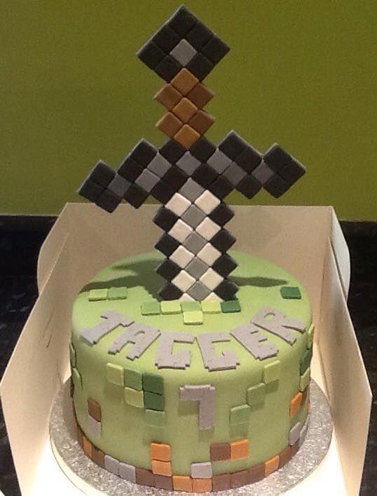 Minecraft Sword Cake Images : Minecraft Sword cake Children s Cakes Pinterest ...