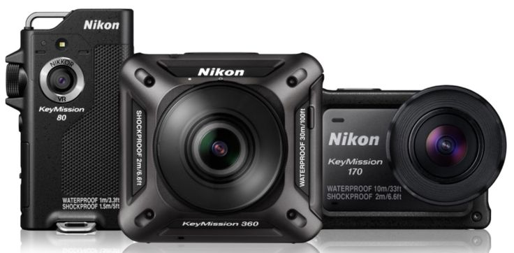 Launching three new cameras, Nikon plunges deep into VR and action cams…