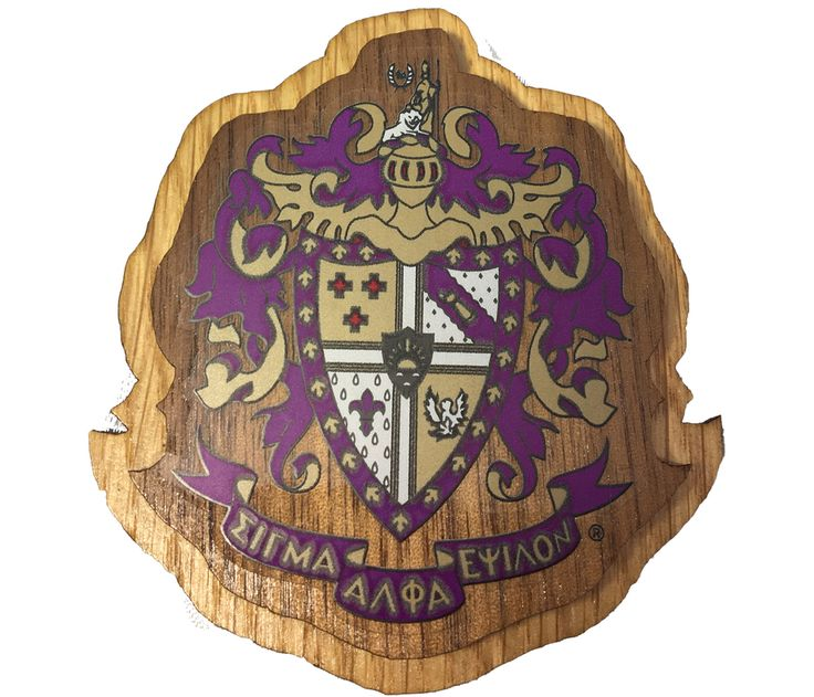 Sigma Alpha Epsilon SAE Fraternity Raised Wood Crest - Brothers and Sisters' Greek Store