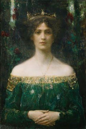 ca. 1902. The king's daughter Eduard Veith (1856-1925, Austrian)