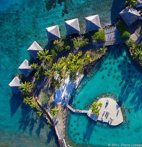 InterContinental Tahiti Resort seen from a kite