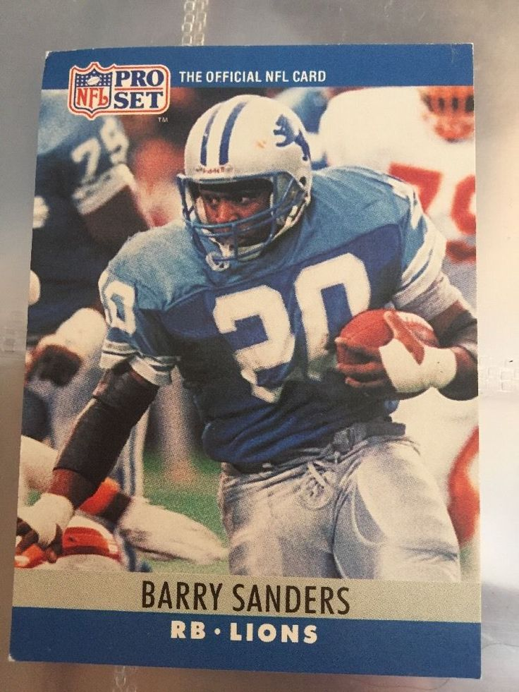 Pro Set 1990 Barry Sanders Card Number 102 Football